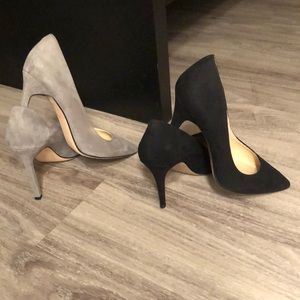 2 pairs of classic suede heels